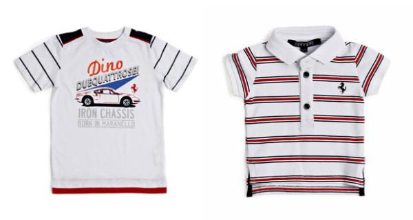 Ferrari Store Kids presenta polo e t-shirt con il Cavallino Rampante