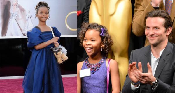 Oscar 2013, la piccola Quvenzhané Wallis sul red carpet in abito Giorgio Armani