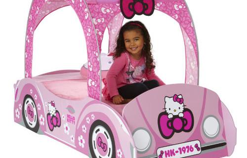 Il lettino auto di Hello Kitty
