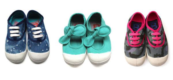 Bensimon presenta le nuove sneakers in tela per bambino. La collezione PE 2013