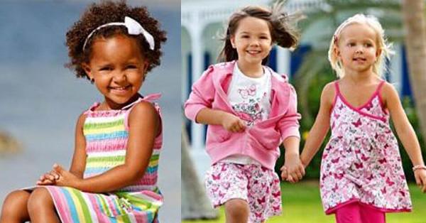 Righe e fiorellini protagonisti dei vestiti per bambina firmati Blue Seven
