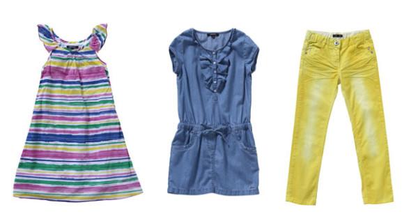 DKNY, capi allegri e colorati nella collezione PE 2013 per bambina