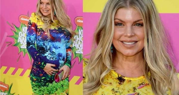Il look Premaman di Fergie ai Kids' Choice Awards 2013