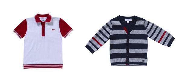 Piccoli uomini con i vestiti della linea kidswear di Hugo Boss