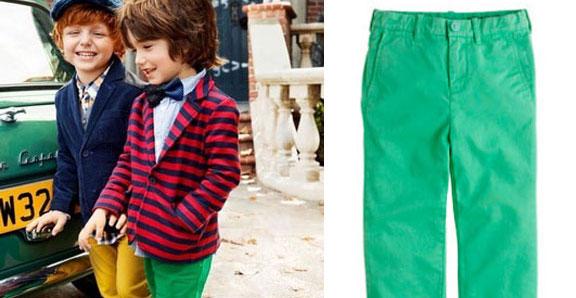 Kelly Green Chinos, i pantaloni per bambini uguali a quelli di papà