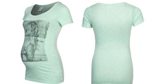 T-shirt Premaman con stampa. Ecco il modello di Mama Licious