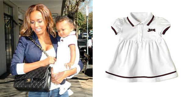 Melanie B, la star delle Spice Girls, ha scelto un abito di Gucci per la sua bimba