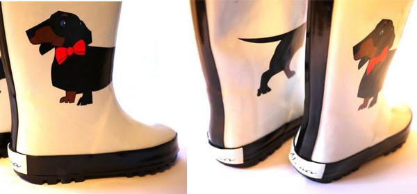 Stivali della pioggia da bambina, protagonista il cagnolino Charlie