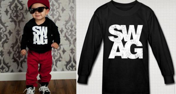 SWAG, la t-shirt a maniche lunghe per bambini firmata American Apparel