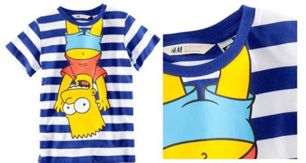 La t-shirt con Bart Simpson di H&M Ragazzi