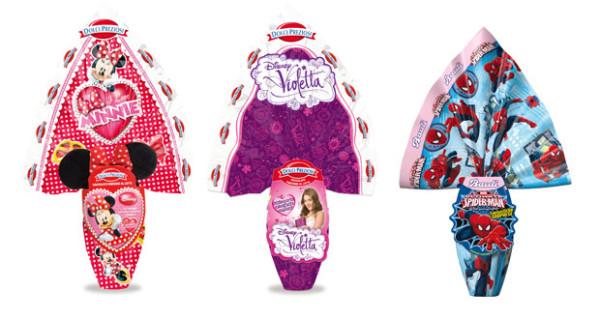 Pasqua, le uova di cioccolato con Minnie, Violetta e Spider Man. Le proposte Disney e Marvel