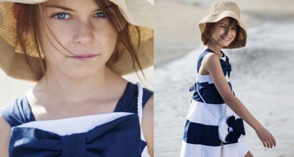 Righe e dettagli fashion: l'abito per bambina firmato Aletta Couture