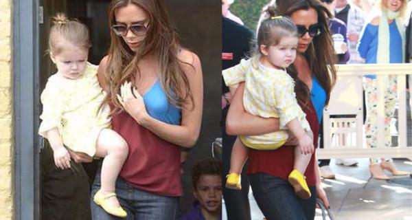 Harper Beckham, la figlia di Victoria e David, sfoggia un abitino firmato Stella McCartney Kids