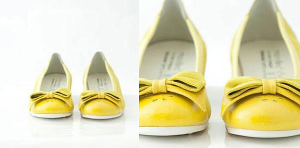 Bambine romantiche e alla moda con le ballerine gialle firmate Monellina