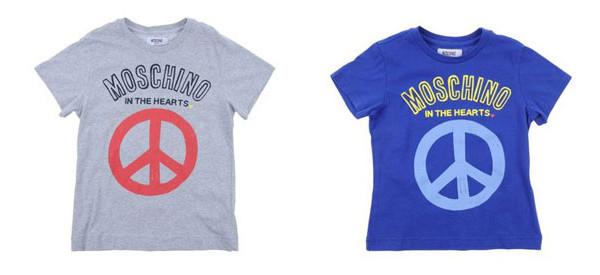 Moschino in the hearts, le t-shirt per bambino della collezione PE 2013