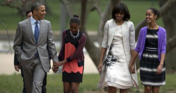 Il look di Malia e Sasha, le figlie di Michelle e Barack Obama, nel giorno di Pasqua