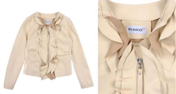 La giacca in pelle di Pinko Up da bambina perfetta per le occasioni speciali