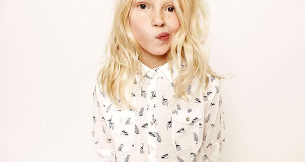 La camicia di Zara Kids della collezione PE 2013: perfetta per le bambine alla moda