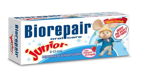 Dentifricio senza fluoro per bambini: ecco Biorepair Junior 0-13 anni