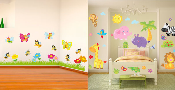 Come rendere più originale la cameretta dei bimbi? Usate gli adesivi da parete