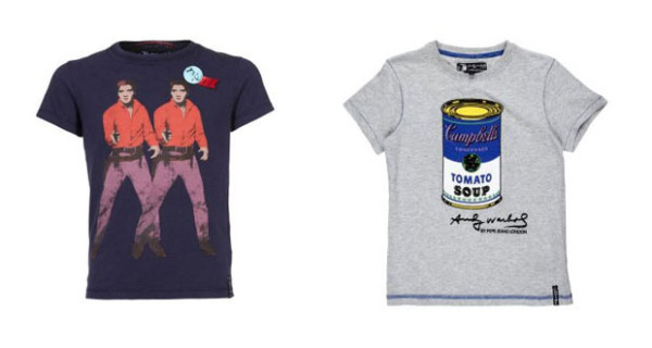 Elvis e zuppe Campbells sulle t-shirt per bambini di Andy Warhol by Pepe Jeans