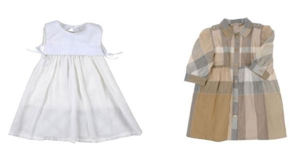 Burberry Baby, i vestitini per bambina perfetti per il battesimo. Prezzo