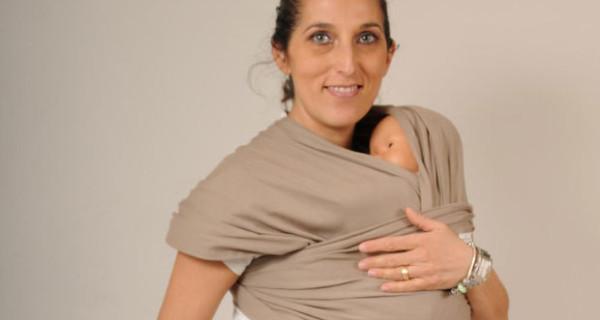 La fascia porta bebè in cotone biologico firmata Filobio