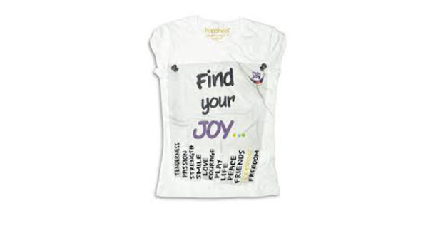 Hello Joy: la t-shirt di Happiness che dona un sorriso ai bambini