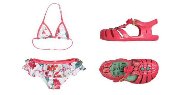 Moda Mare per bambine: Bikini di Moschino Kid e sandali in gomma di Melissa