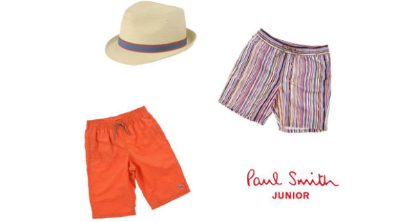 In spiaggia con Paul Smith Junior: costumi e accessori per bambino