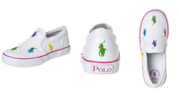 Bal Harbour Repeat, le scarpe senza lacci per bambina di Ralph Lauren