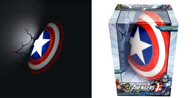 Lo scudo di Capitan America diventa una lampada 3D per la ...