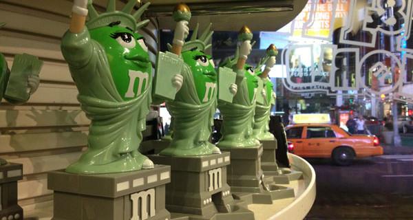 Il meraviglioso mondo degli M&M's. Lo store di New York