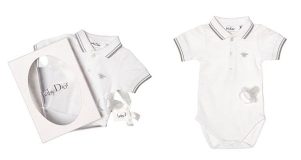 Idea regalo per un battesimo: il set body e ciuccio di Baby Dior