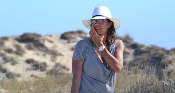 Cristina Parodi parte per le vacanze con i figli