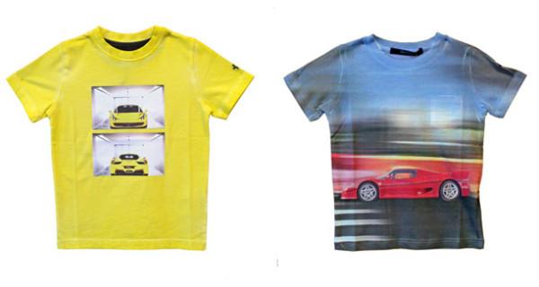 Ferrari Store: le t-shirt per i piccoli appassionati del Cavallino Rampante
