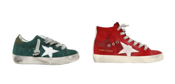 Golden Goose: le sneakers in camoscio per bambini dall'effetto vintage