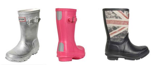 Stivali della pioggia: i nuovi colori degli Hunter per bambini