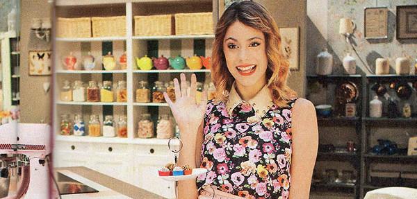 Violetta protagonista di un programma italiano di cucina