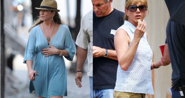 Jennifer Aniston: abito morbido e pancia sospetta. E' incinta?