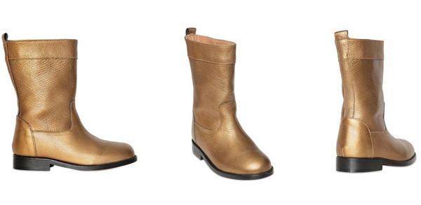 Stivali in pelle per bambina: il modello invernale di Lanvin Petit
