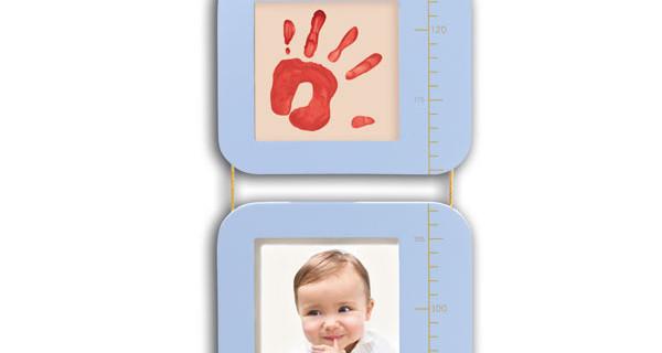 Il metro per misurare la crescita del bambino diventa una cornice