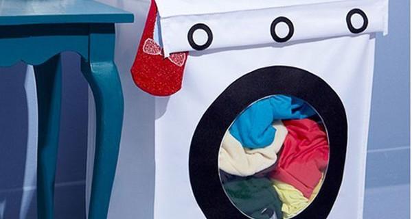 Mobile a forma di lavatrice per la cameretta: perfetto per i giocattoli