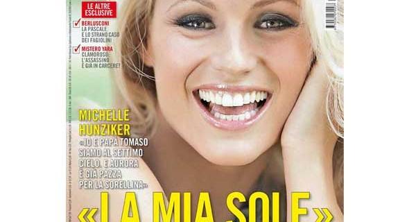 Anteprima della copertina di Oggi: Michelle Hunziker parla della piccola Sole