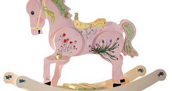 Cavallo a dondolo in legno: il sogno di mamme e bambine. Prezzo