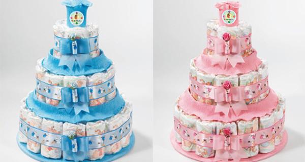 Ecco come fare la torta di pannolini per un Baby Shower Party [Foto]