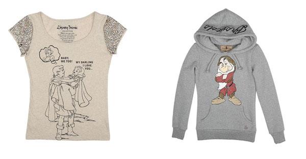 T-Shirt, abiti, felpe e scarpe dei personaggi Disney per l'inverno 2013