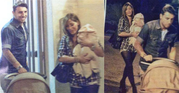 Guendalina Tavassi e Umberto D'Aponte su Visto con la loro bimba Chloe [Foto]