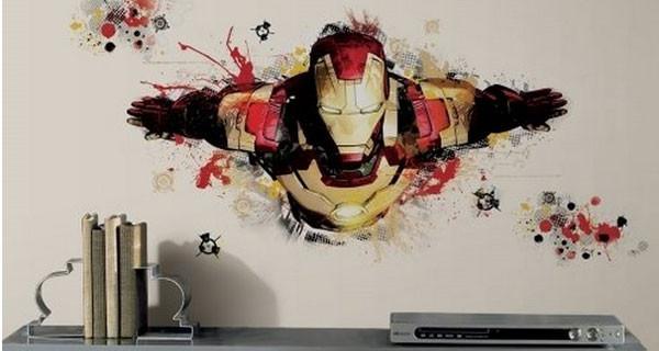 Iron man 3 lo sticker per le pareti della cameretta for Stickers pareti
