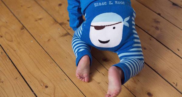 Cosa indossare ad Halloween? Ecco i leggings con il pirata per bambini di Mirtilla